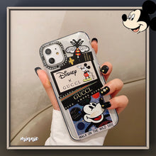 Load image into Gallery viewer, Disney x GUCCI Style Clear Bumper Shockproof Protective Designer iPhone Case For iPhone SE 11 Pro Max X XS Max XR 7 8 Plus - Casememe.com
