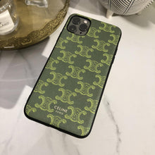 Load image into Gallery viewer, Celine Style Green Leather Designer iPhone Case For iPhone 12 SE 11 Pro Max X XS Max XR 7 8 Plus - Casememe.com