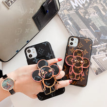 Load image into Gallery viewer, Louis Vuitton Style Luxury Leather Hand Strap Shockproof Protective Designer iPhone Case For iPhone 12 SE 11 Pro Max X XS Max XR 7 8 Plus - Casememe.com
