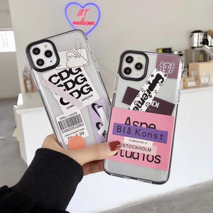 CDG Style Clear Silicone Shockproof Protective Designer iPhone Case For iPhone SE 11 Pro Max X XS Max XR 7 8 Plus - Casememe.com