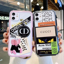 Load image into Gallery viewer, Gucci Style Tempered Glass Shockproof Protective Designer iPhone Case For iPhone SE 11 Pro Max X XS Max XR 7 8 Plus - Casememe.com