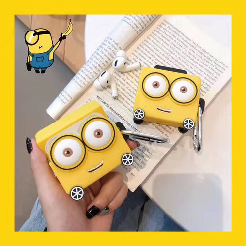 Despicable Me Minions Style Silicone Luggage Protective Case For Apple Airpods Pro - Casememe.com