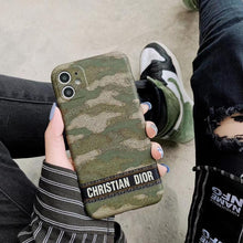 Load image into Gallery viewer, Christian Dior Style Camouflage Shockproof Protective Designer iPhone Case For iPhone SE 11 Pro Max X XS Max XR 7 8 Plus - Casememe.com