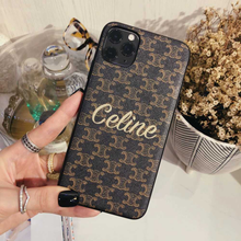 Load image into Gallery viewer, Celine Style Classic Brown Leather Designer iPhone Case For iPhone 12 SE 11 Pro Max X XS Max XR 7 8 Plus - Casememe.com