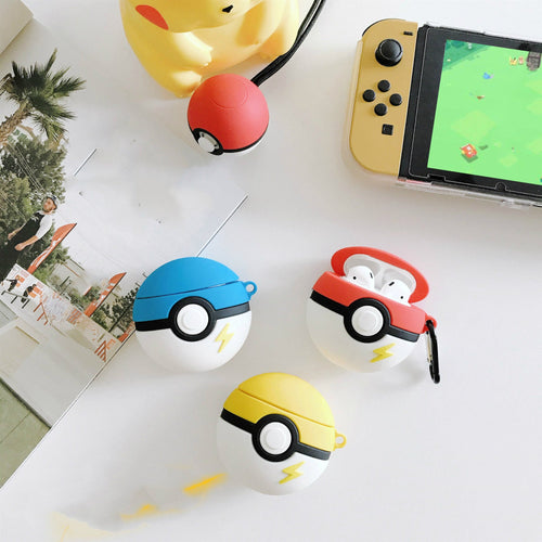 Pokemon Ball Style Silicone Protective Shockproof Case For Apple Airpods 1 & 2 - Casememe.com