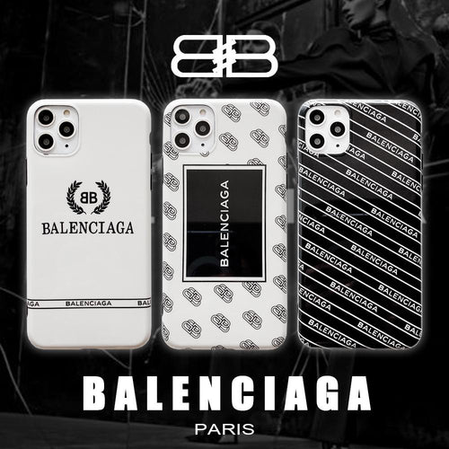 Balenciaga Style Glossy Silicone Shockproof Protective Designer iPhone Case For iPhone 12 SE 11 Pro Max X XS Max XR 7 8 Plus - Casememe.com