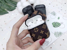 Load image into Gallery viewer, Luxury Style AirPods Classic Monogram Leather Protective Shockproof Case For Apple Airpods 1 & 2 - Casememe.com