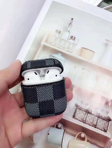 Luxury Style AirPods Classic Damier Leather Protective Shockproof Case For Apple Airpods 1 & 2 - Casememe.com