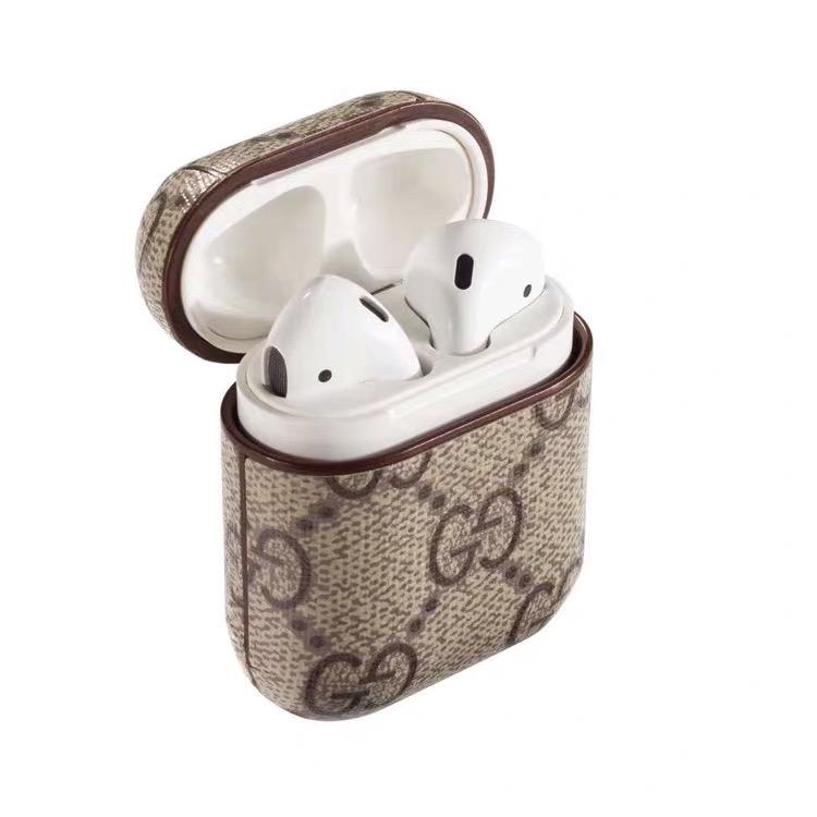 Gucci Style AirPods Classic Leather Protective Shockproof Case For Apple Airpods 1 & 2 - Casememe.com