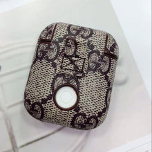 Load image into Gallery viewer, Gucci Style AirPods Classic Leather Protective Shockproof Case For Apple Airpods 1 & 2 - Casememe.com