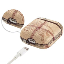 Load image into Gallery viewer, Burberry Style AirPods Classic Leather Protective Shockproof Case For Apple Airpods 1 & 2 - Casememe.com
