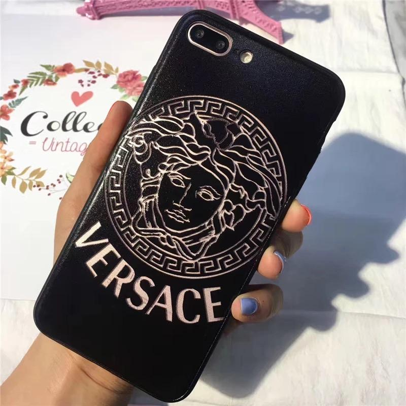 factory authentic 78a93 64b8d Versace Style Leather Shockproof Luxury Designer iPhone Case For iPhone X  XS XS Max XR 7 8 Plus
