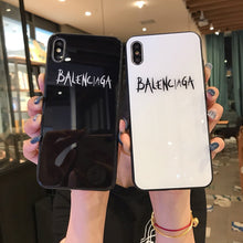 Load image into Gallery viewer, Balenciaga Style Tempered Glass Shockproof Protective Designer iPhone Case For iPhone 12 SE 11 Pro Max X XS Max XR 7 8 Plus - Casememe.com
