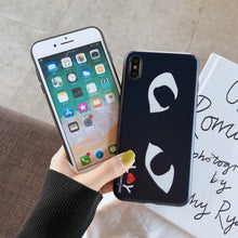 Load image into Gallery viewer, Comme Des Garcons CDG Play Style Matte Silicone Designer iPhone Case For iPhone X XS XS Max XR 7 8 Plus - Casememe.com