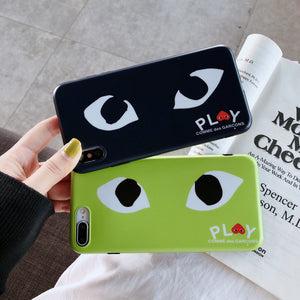 Comme Des Garcons CDG Play Style Matte Silicone Designer iPhone Case For iPhone X XS XS Max XR 7 8 Plus - Casememe.com