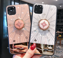 Load image into Gallery viewer, Luxury Monogram Glossy Ring Holder Designer iPhone Case For iPhone 12 SE 11 Pro Max X XS XS Max XR 7 8 Plus - Casememe.com