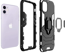 Load image into Gallery viewer, Black Ring Holder Shockproof Designer iPhone Case For iPhone SE 11 Pro Max X XS XS Max XR 7 8 Plus - Casememe.com