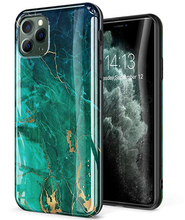 Load image into Gallery viewer, Golden Marble Silicone Designer iPhone Case For iPhone SE 11 Pro Max X XS XS Max XR 7 8 Plus - Casememe.com