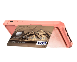 Cardholder Baby Pink Leather Designer iPhone Case For iPhone SE 11 Pro Max X XS XS Max XR 7 8 Plus - Casememe.com