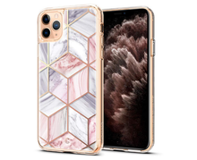 Load image into Gallery viewer, Geometric Marble Metal Frame Designer iPhone Case For iPhone SE 11 Pro Max X XS XS Max XR 7 8 Plus - Casememe.com