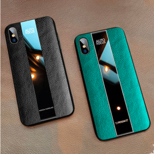 Leather Tempered Glass Luxury Business Designer iPhone Case For iPhone SE 11 Pro Max X XS XS Max XR 7 8 Plus - Casememe.com