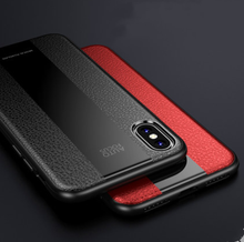 Load image into Gallery viewer, Leather Tempered Glass Luxury Business Designer iPhone Case For iPhone SE 11 Pro Max X XS XS Max XR 7 8 Plus - Casememe.com