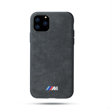 Load image into Gallery viewer, Alcantara AMG BMW Series Style Protective Designer iPhone Case For iPhone 12 SE  11 Pro Max X XS XS Max XR 7 8 Plus - Casememe.com