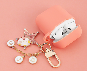 Cute Unicorn Silicone Keychain Protective Case For Apple Airpods Pro - Casememe.com