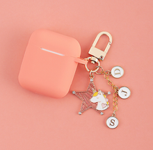 Load image into Gallery viewer, Cute Unicorn Silicone Keychain Protective Case For Apple Airpods Pro - Casememe.com