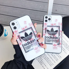 Load image into Gallery viewer, Adidas Style Tempered Glass Shockproof Protective Designer iPhone Case For iPhone 12 SE 11 Pro Max X XS Max XR 7 8 Plus - Casememe.com