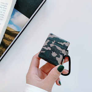 Luggage Camouflage Leather Box Protective Case For Apple Airpods 1 & 2 - Casememe.com