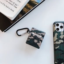 Load image into Gallery viewer, Luggage Camouflage Leather Box Protective Case For Apple Airpods 1 & 2 - Casememe.com
