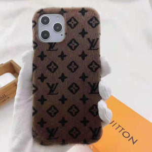 Louis Vuitton Style Monogram Furry Designer iPhone Case For All iPhone Models - Casememe.com