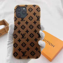 Load image into Gallery viewer, Louis Vuitton Style Monogram Furry Designer iPhone Case For All iPhone Models - Casememe.com