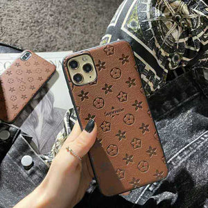 Louis Vuitton Style Designer iPhone Case For iPhone SE 11 Pro Max X XS Max XR 7 8 Plus - Casememe.com