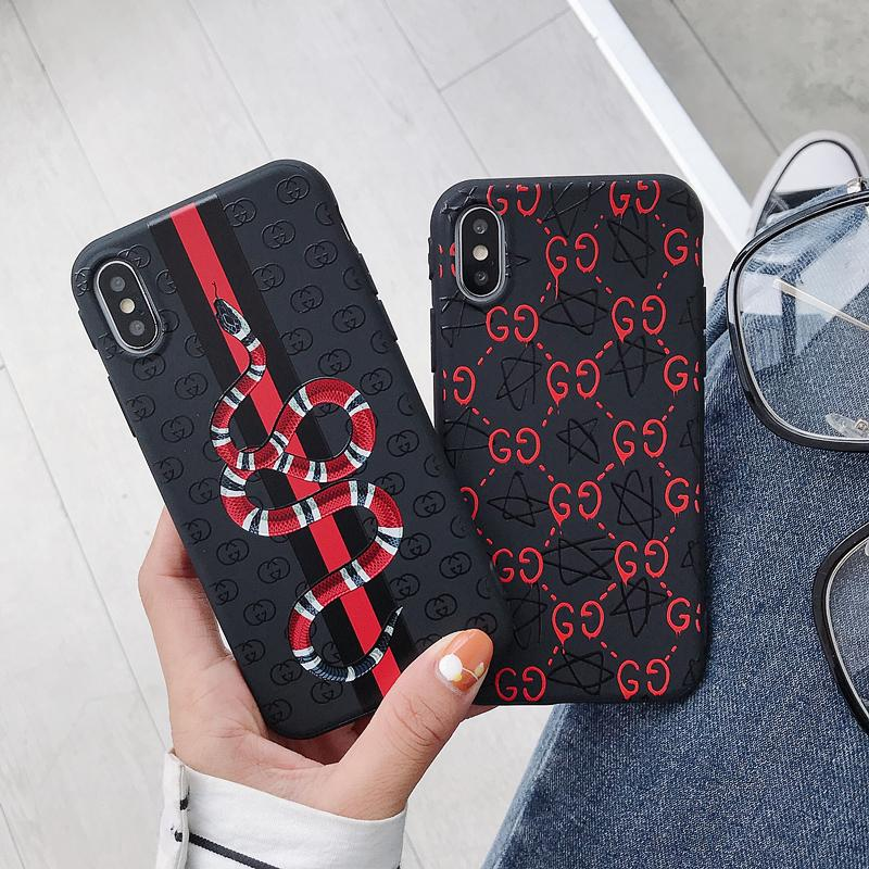 informazioni per baabd 18be8 Gucci Style Glossy Print Silicone Snake Designer iPhone Case For iPhone X  XS XS Max XR 7 8 Plus