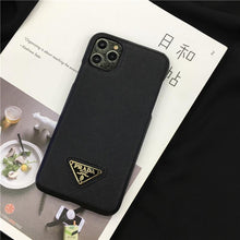 Load image into Gallery viewer, Prada Style Leather Shockproof Protective Designer iPhone Case For iPhone 12 SE 11 Pro Max X XS Max XR 7 8 Plus - Casememe.com