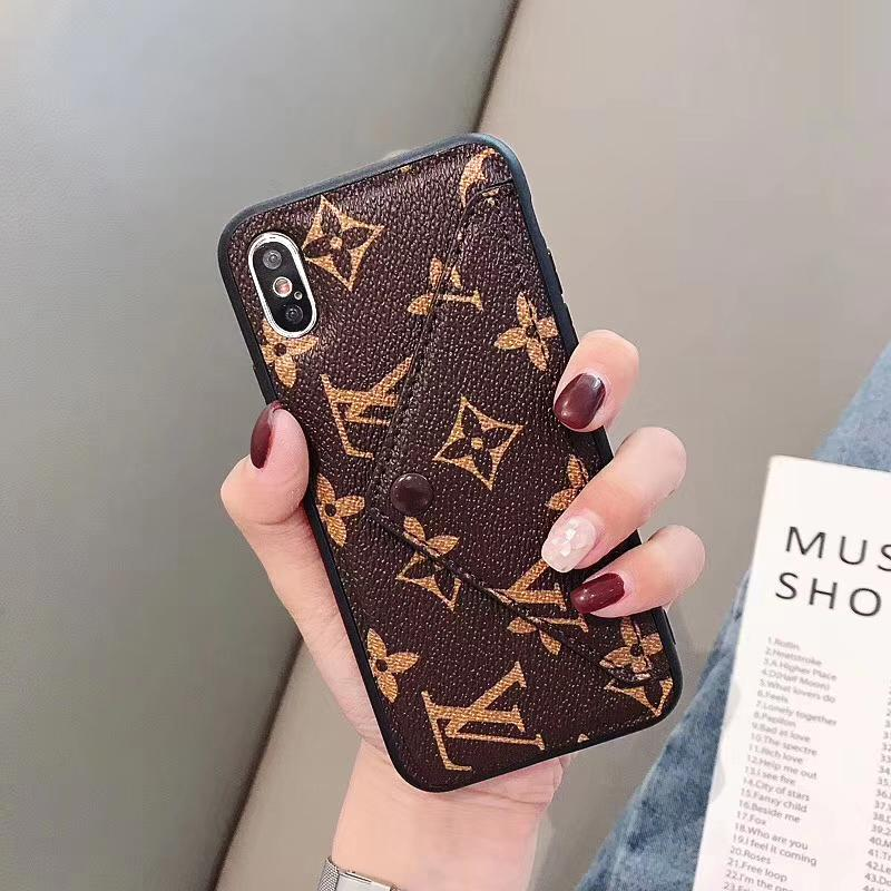 Louis Vuitton Style Wallet Leather Designer iPhone Case For iPhone SE 11 Pro Max X XS Max XR 7 8 Plus - Casememe.com