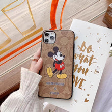 Load image into Gallery viewer, Coach Style Mickey Mouse Luxury Leather Shockproof Protective Designer iPhone Case For iPhone SE 11 Pro Max X XS Max XR 7 8 Plus - Casememe.com