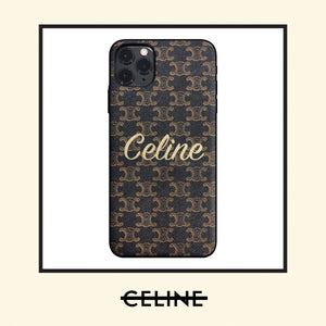 Celine Style Classic Brown Leather Designer iPhone Case For iPhone 12 SE 11 Pro Max X XS Max XR 7 8 Plus - Casememe.com