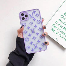 Load image into Gallery viewer, Louis Vuitton Style Clear Matte Protective Designer iPhone Case For iPhone 12 SE 11 Pro Max X XS Max XR 7 8 Plus - Casememe.com