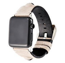 Load image into Gallery viewer, 3D Eye Beige Leather Compatible With Apple Watch 38mm 40mm 42mm 44mm Band Strap For iWatch Series 4/3/2/1 - Casememe.com