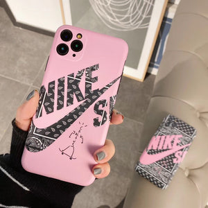 Nike Style SB Series Matte Silicone Shockproof Protective Designer iPhone Case For iPhone 12 SE 11 Pro Max X XS Max XR 7 8 Plus - Casememe.com