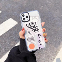 Load image into Gallery viewer, CDG Style Clear Silicone Shockproof Protective Designer iPhone Case For iPhone SE 11 Pro Max X XS Max XR 7 8 Plus - Casememe.com