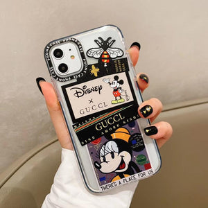 Disney x GUCCI Style Clear Bumper Shockproof Protective Designer iPhone Case For iPhone SE 11 Pro Max X XS Max XR 7 8 Plus - Casememe.com