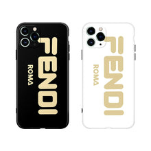 Load image into Gallery viewer, Fendi Style Electroplating Glossy TPU Silicone Designer iPhone Case For iPhone 12 SE 11 Pro Max X XS XS Max XR 7 8 Plus - Casememe.com