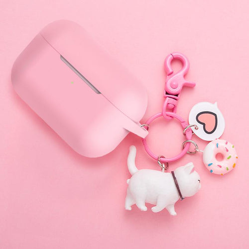 Donut Cat Pendant Silicone Protective Case For Apple Airpods Pro - Casememe.com