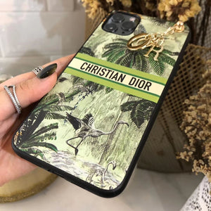 Christian Dior Style Jungle Shockproof Protective Designer iPhone Case For iPhone SE 11 Pro Max X XS Max XR 7 8 Plus - Casememe.com