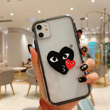 Load image into Gallery viewer, NIKE CDG Style Tempered Glass Shockproof Protective Designer iPhone Case For iPhone SE 11 Pro Max X XS Max XR 7 8 Plus - Casememe.com