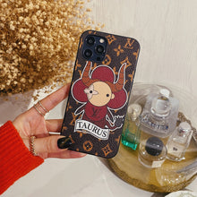 Load image into Gallery viewer, Louis Vuitton Style Taurus Leather Designer iPhone Case For All iPhone Models - Casememe